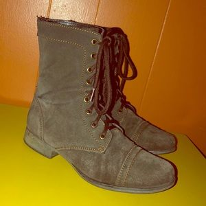 Steve Madden Brown Suede Leather Zip Boots